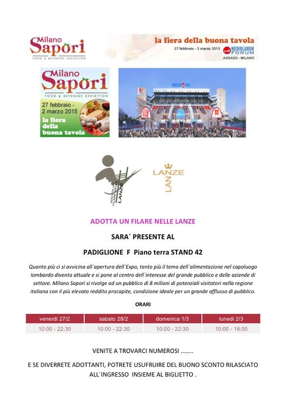 Milano Sapori, 27 febbraio - 2 marzo 2015